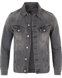 Nuevo-senores-Nudie-slim-fit-vintage-Denim-Jeans-chaqueta-Billy-Desolation-Grey