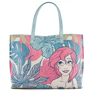 22ce7b16c03 Loungefly x Disney The Little Mermaid Ariel Leaves Tote Bag Purse ...