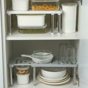 Adjustable-Kitchen-Cupboard-Shelf-Storage-Rack-Bathroom-Organiser-Cabinet-Holder