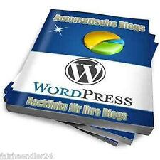 Automatische Blogs in Deutsch WordPress Geld Verdienen Blog Blogger Neu E-Lizenz