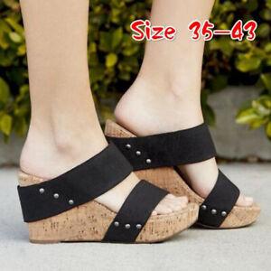 Platform-Shoes-mules-Sandals-Slipper-Summer-Womens-High-Heels-SU
