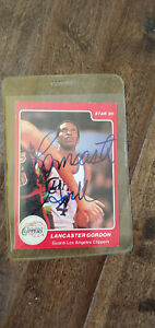 1984-85 STAR 85 SIGNED AUTO ROOKIE CARD LANCASTER GORDON CLIPPERS LOUISVILLE 18