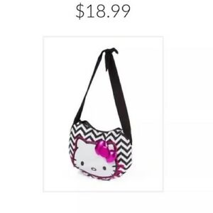 Hello-Kitty-Authentic-Black-White-Purse-Bag-Crossbody-Handbag-Bow-MRSP-28-NWT