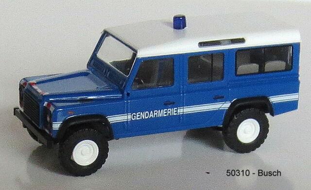 Busch 50310 Spur HO 1:87 -  Landrover Defender -  Station Wagon 110 Gendarmerie