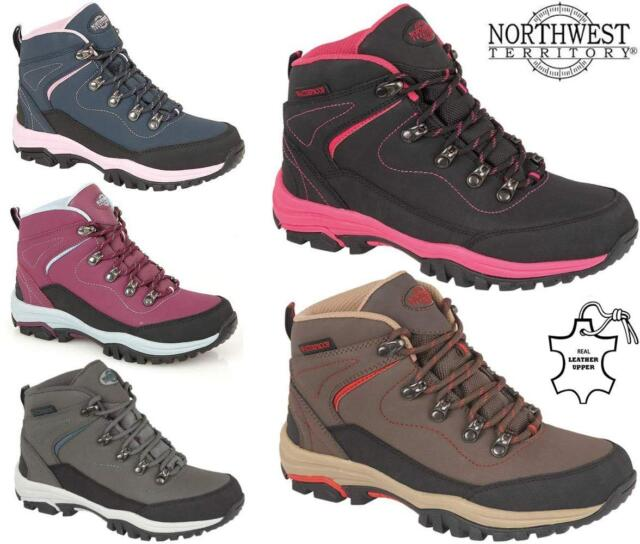 7096d8b440e Ladies Womens Leather Walking Hiking Waterproof Ankle Boots Trainers Shoes  Size