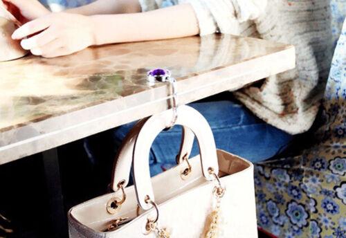 Crystal Portable table pliante bourse Sac Crochet Hanger Titulaire Sac à main