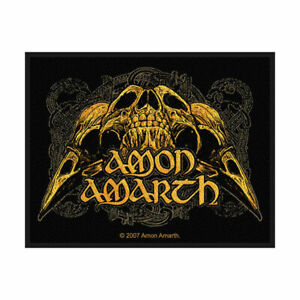 AMON-AMARTH-Raven-Skull-Woven-Sew-On-Patch-Official-Licensed-Band-Merch