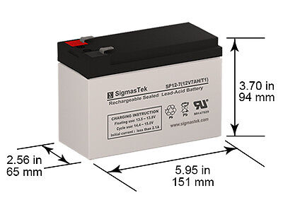 Rechargeable, high Rate para Systems Minuteman 3000CP Replacement Battery Pack