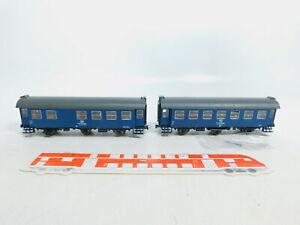 BX744-0-5-2x-Roco-H0-AC-Aufenthaltswagen-Bautruppfuehrerwagen-DB-NEM