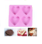 4 Hearts Birthday Silicone Cake Mould For Candy Chocolate Cake Mould Baking DIY