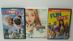 3-DVD-KIDS-MOVIES-LOT-FUN-SIZE-DISNEY-HANNAH-MONTANA-MILO-AND-OTIS-LOT-OF-3