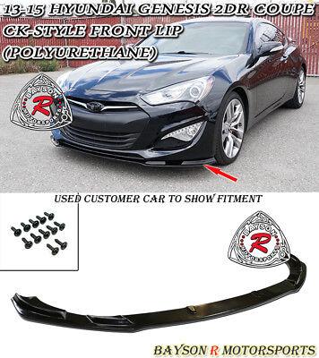CK-Style Front Lip (Urethane) Fits 13-16 Hyundai Genesis Coupe 2dr