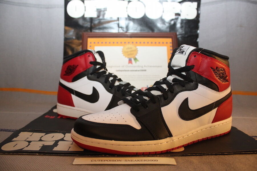 2018 Nike Air Jordan 1 Retro HIgh OG Black Toe US Men Price reduction W/NikeReceipt New shoes for men and women, limited time discount
