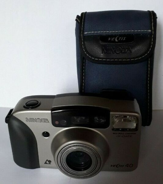 "Minolta Vectis 40 Ix-date Compact Camera 35mm Aps Film ""testé"""