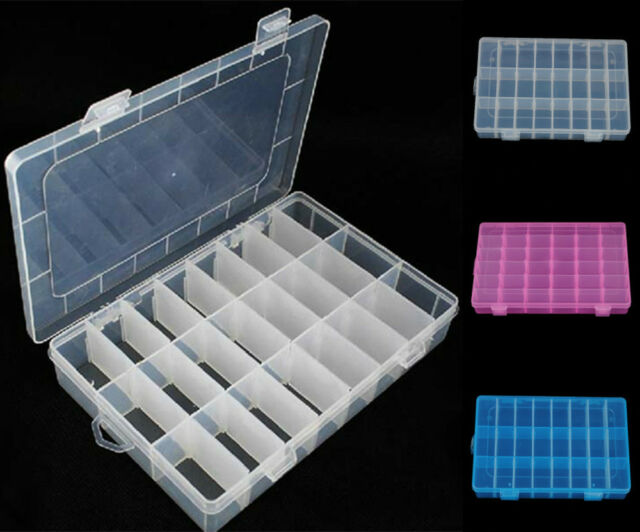 24 Cells Storage Box Case For Loom Kit Rubber Bands Charms Clips Hook Kid Crafts