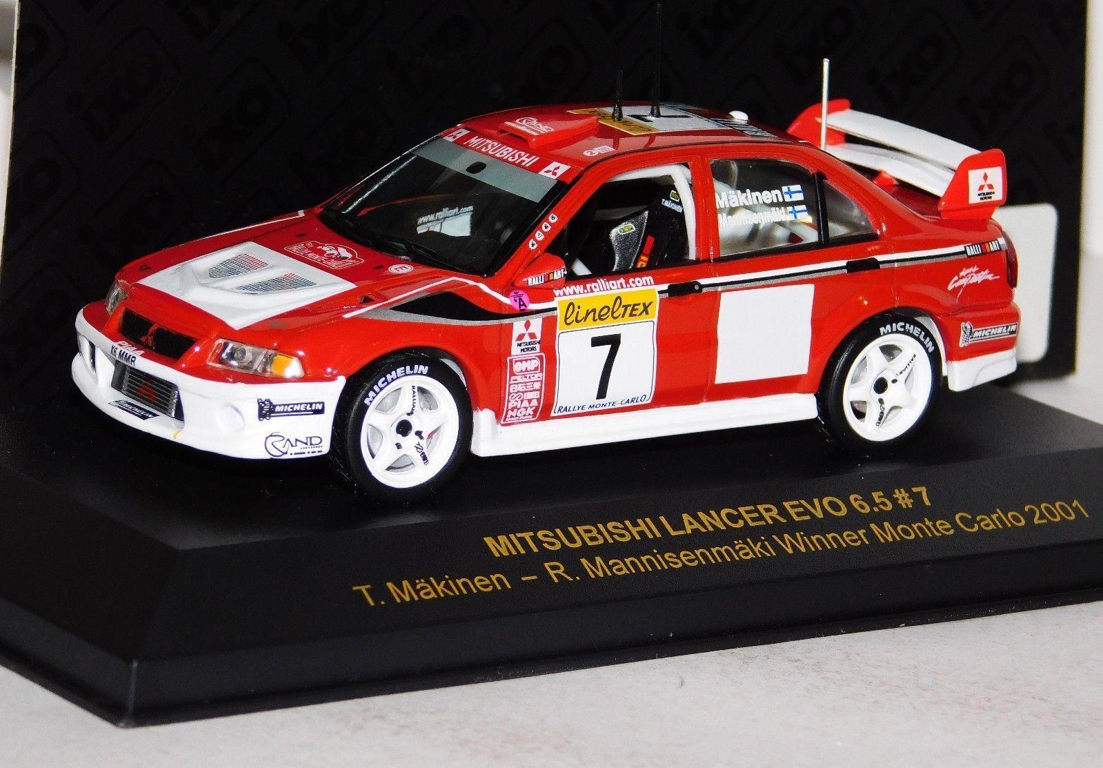MITSUBISHI LANCER EVO 6.5 T. MAKINEN  7 WINNER MONTE CARLO 2001 IXO RAM003