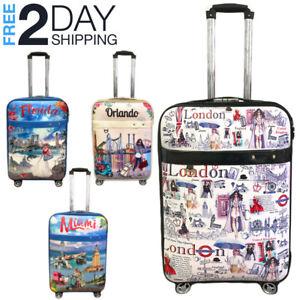 "Luggage 25"" Suitcase Trolley Wheeled Spinner Travel Set Bag Lightweight Suitcase"