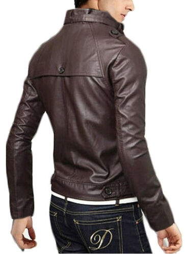 Giubbotto Uomo In Men Homme Cuir Leather N12e Jacket Blouson Veste Giacca Pelle SqdwS4