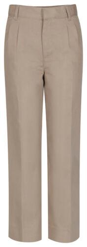 Classroom Uniforms Boys New Double Knee Pockets Husky Pleat Front Pant 50773