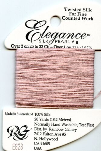 Rainbow Gallery Elegance #E823 Lite Antique Mauve #8 Silk Pearl Thread 100/% Silk