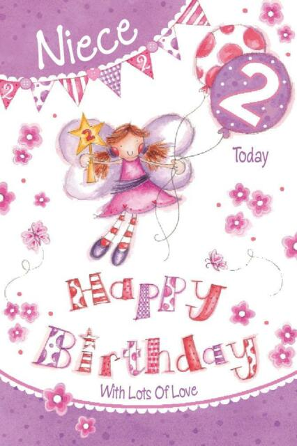 NIECE BIRTHDAY GREETINGS CARDS AGE 2 206137