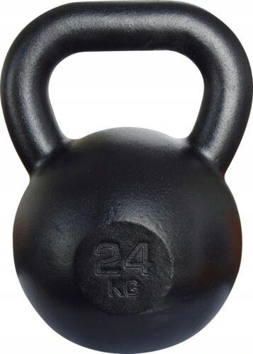 Kawmet Cast Iron Kettlebell 24 kg Black