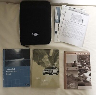 ford escape owners manual oem  zipper case