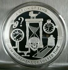 1 oz .999 silver proof a sand hour glass increment of shared time depicting life