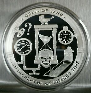 1 Oz 999 Silver Proof A Sand Hour Glass Increment Of