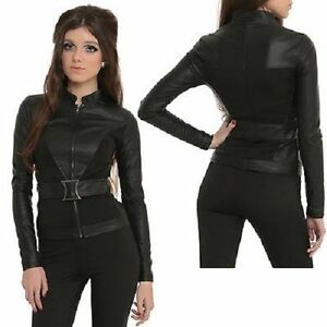 Marvel-By-Her-Universe-BLACK-WIDOW-BLACK-JACKET-Avengers-SZ-X-Large-NWT-Sold-Out