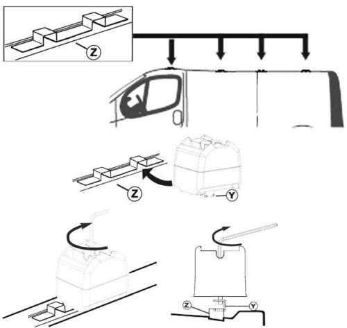 Dachträger Dachgepäckträger Aurilis Pro Renault Trafic 2001-2014 3Stangen 140kg