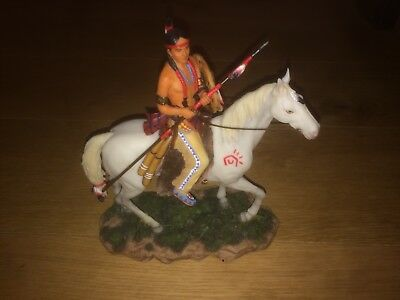 Veronese Indianer Figur mit Pferd und Speer *Top Zustand*