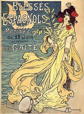 Vintage French Art Nouveau Shabby Chic Prints & Posters 075 A1,A2,A3,A4 Sizes