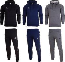 Adidas Core 18 Mens Fleece Full Tracksuit Hoodie Top Bottom Pants Training SM2XL