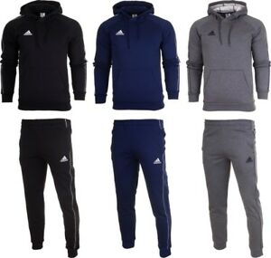 Adidas-Core-18-Mens-Fleece-Full-Tracksuit-Hoodie-Top-Bottom-Pants-Training-SM2XL