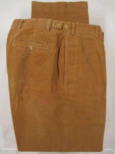 Bamford & Sons Mens Beige Pleated Corduroy Pants 3