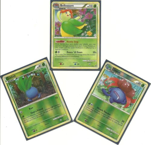 RH -3 EVO HS Undaunted Pokemon Cards NM//M +GLOOM Holo BELLOSSOM RH +ODDISH