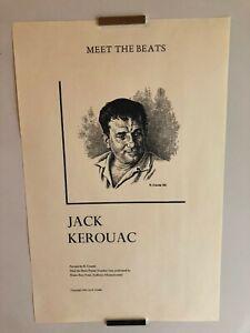 "R. CRUMB ""JACK KEROUAC: MEET THE BEATS"" LIMITED EDITION PRINT 1985"