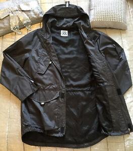 HOPE-amp-GLORY-Mens-Utility-Jacket-L-Blue-Peak-Hooded-Rain-Coat-Designer-ENGLAND