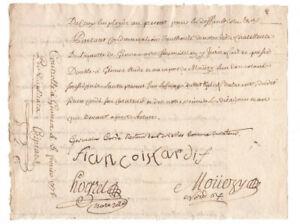 1778 KING LOUIS XVI Royal  Notary signed manuscript document NICE SIGNATURES