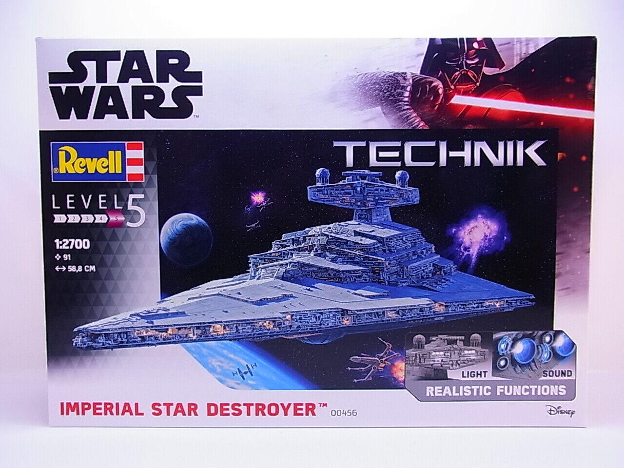 60990 Revell 00456 Star Wars Star Destroyer 1 2700 Bausatz Licht Sound NEU OVP