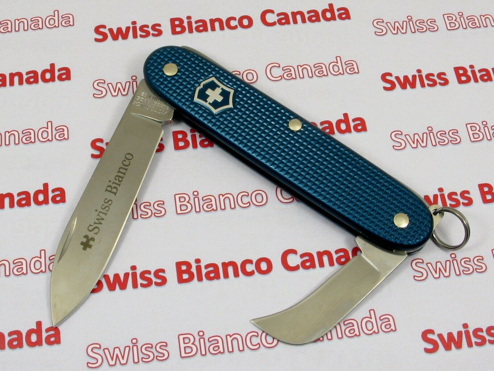 Swiss Bianco Exclusive Victorinox Pruner Teal bluee Alox Swiss Army Knife