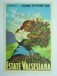 ADVERTISING-TOURISM-ITALY-VALSESIA-1948-ARTIST-SIGNED-V5Q-S35778