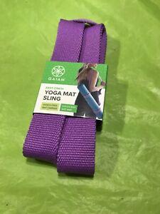 Gaiam Yoga Mat Sling Easy Cinch Hands Free Teal Blue Brand New Ebay