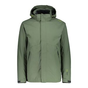 Man Inn Outdoorjacke Hood Giacca Verde Cmp Zip Detachble jacket 0knwOP