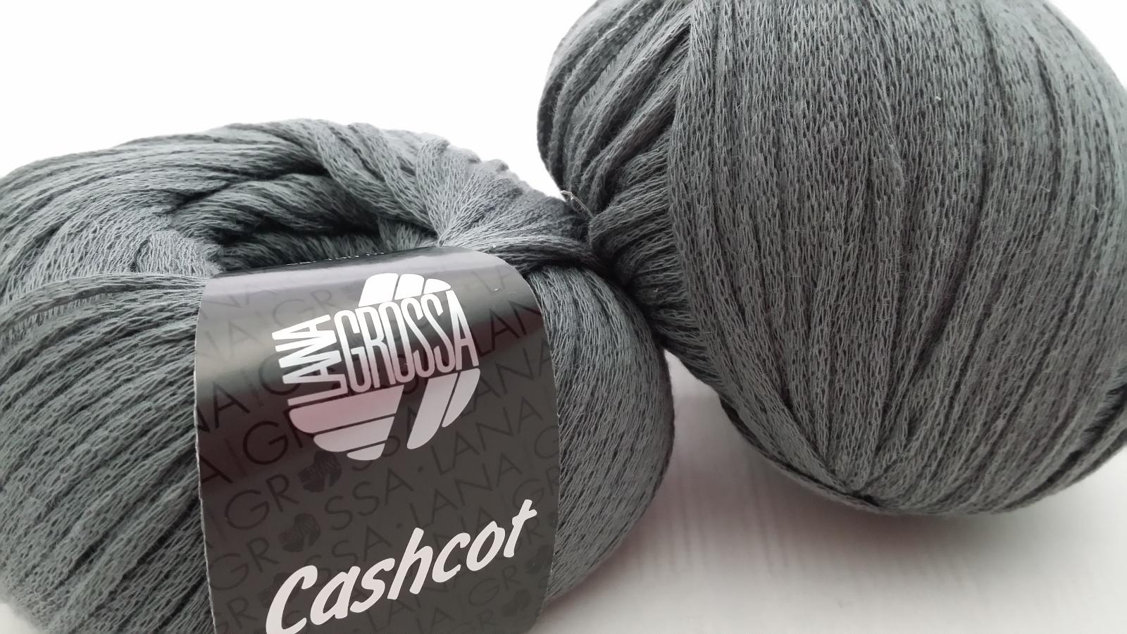 700 700 700 g Cashcot Lana Grossa FB 14 gris 85% coton/15% cachemire 5b6fa2