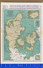 DENMARK & ICELAND - 1932 Color Map