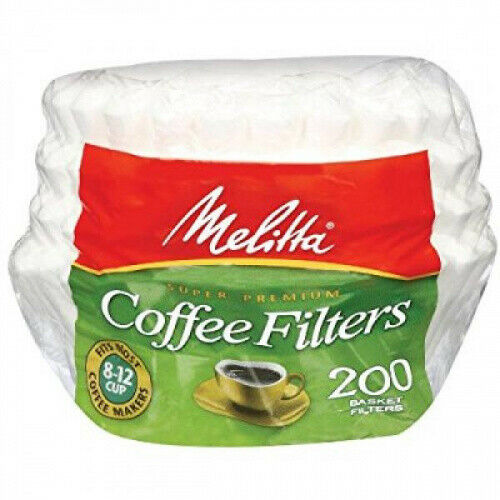 200 ct Melitta Basket Coffee Filters Free Shipping