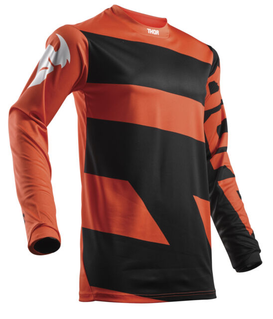Thor Sector ZONES Motocross Offroad Race Jersey Black Red Adults Medium