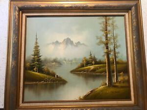 Oil painting on canvas,signed, framed, By Lee Holden, 1986, 32x28 Inch